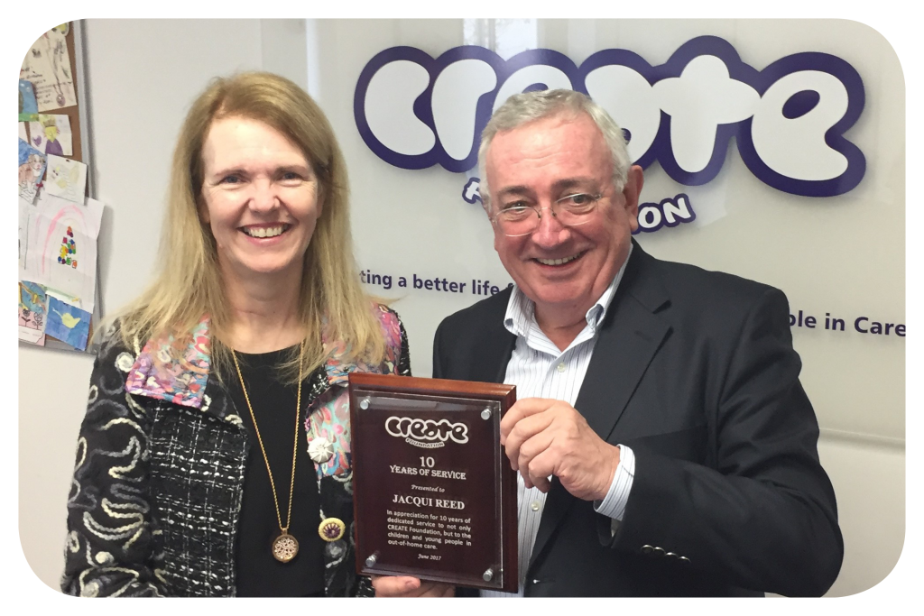 Jacqui Reed, CEO of CREATE Foundation with Richard Hill, Chairman of the Board