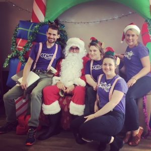 CREATE Staff Photo with Santa for Christmas Appeal