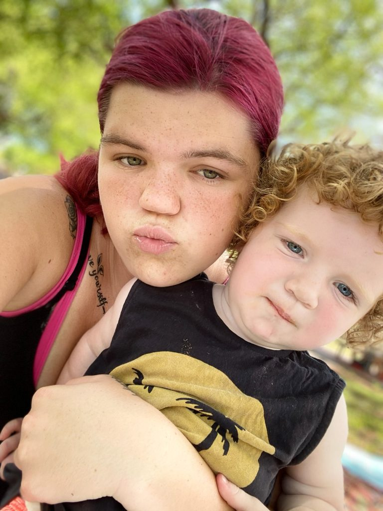 Maryanne with her Son