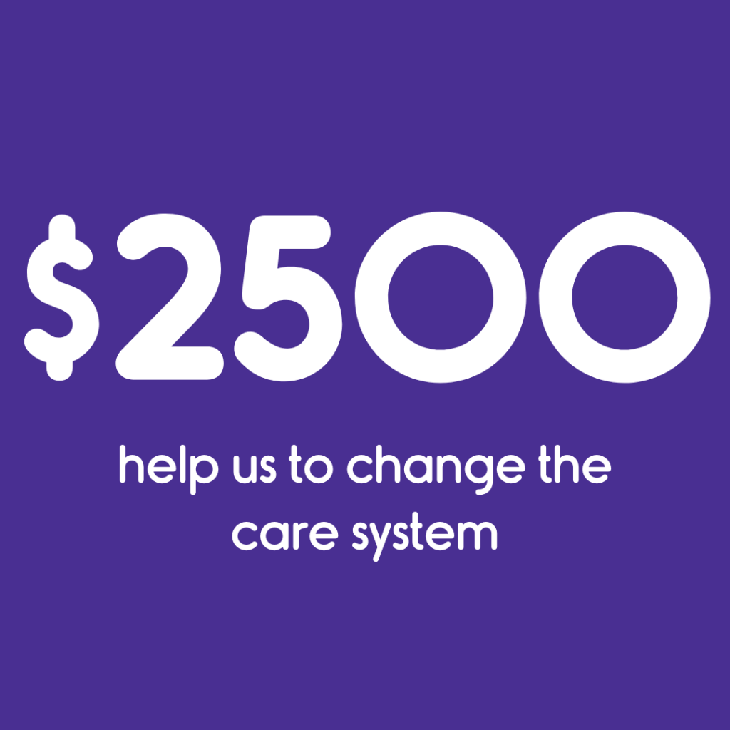 $2500 helps us change the care system