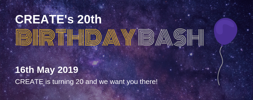 CREATE's 20th Birthday Gala Banner